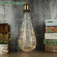 Big Size Irregular Edison Bulb LED Vintage Lamp Bulb Pumpkin Glass 220V E27 Energy Saving Table