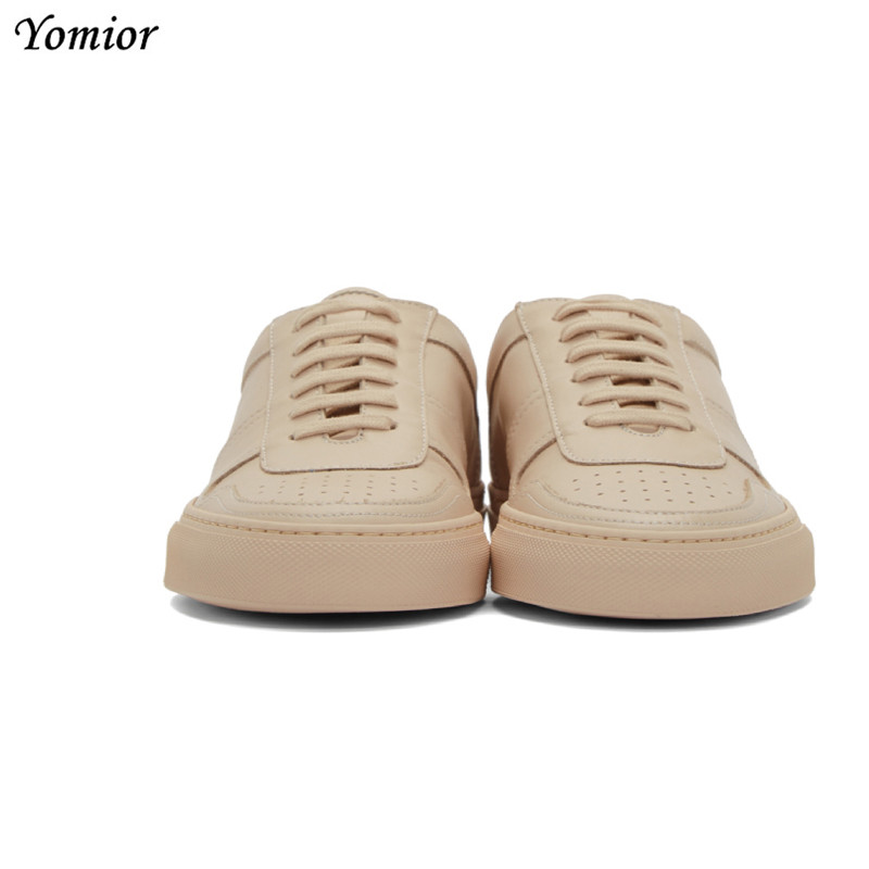 Yomior Brand Handmade Men Shoes British Genuine Leather Comfortable Fashion Designer Sneakers Autumn Casual Flats White Loafers