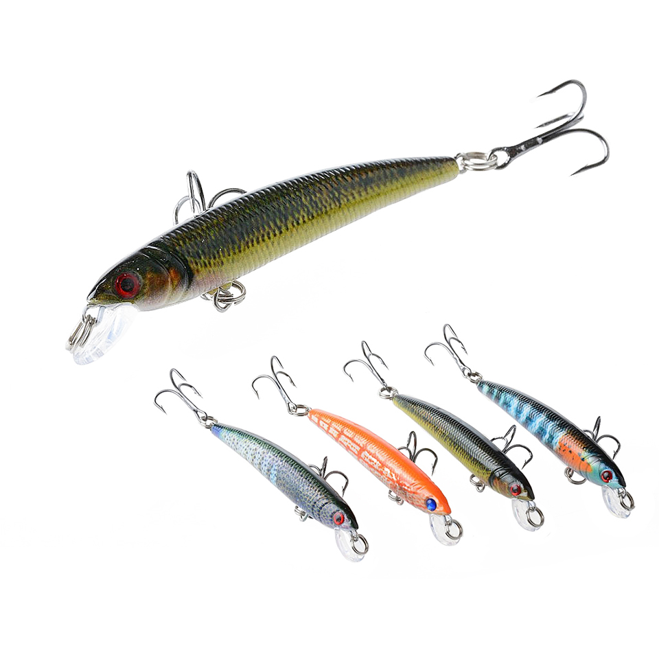 1PCS lifelike Minnow Crankbait Hard Bait Tight Wobble Slow Floating Jerkbait 7.5cm 5.6g Topwater Fishing Lure RM010 5pcs lot minnow crankbait hard bait 8 hooks lures 5 5g 8cm wobbler slow floating jerkbait fishing lure set ye 26dbzy