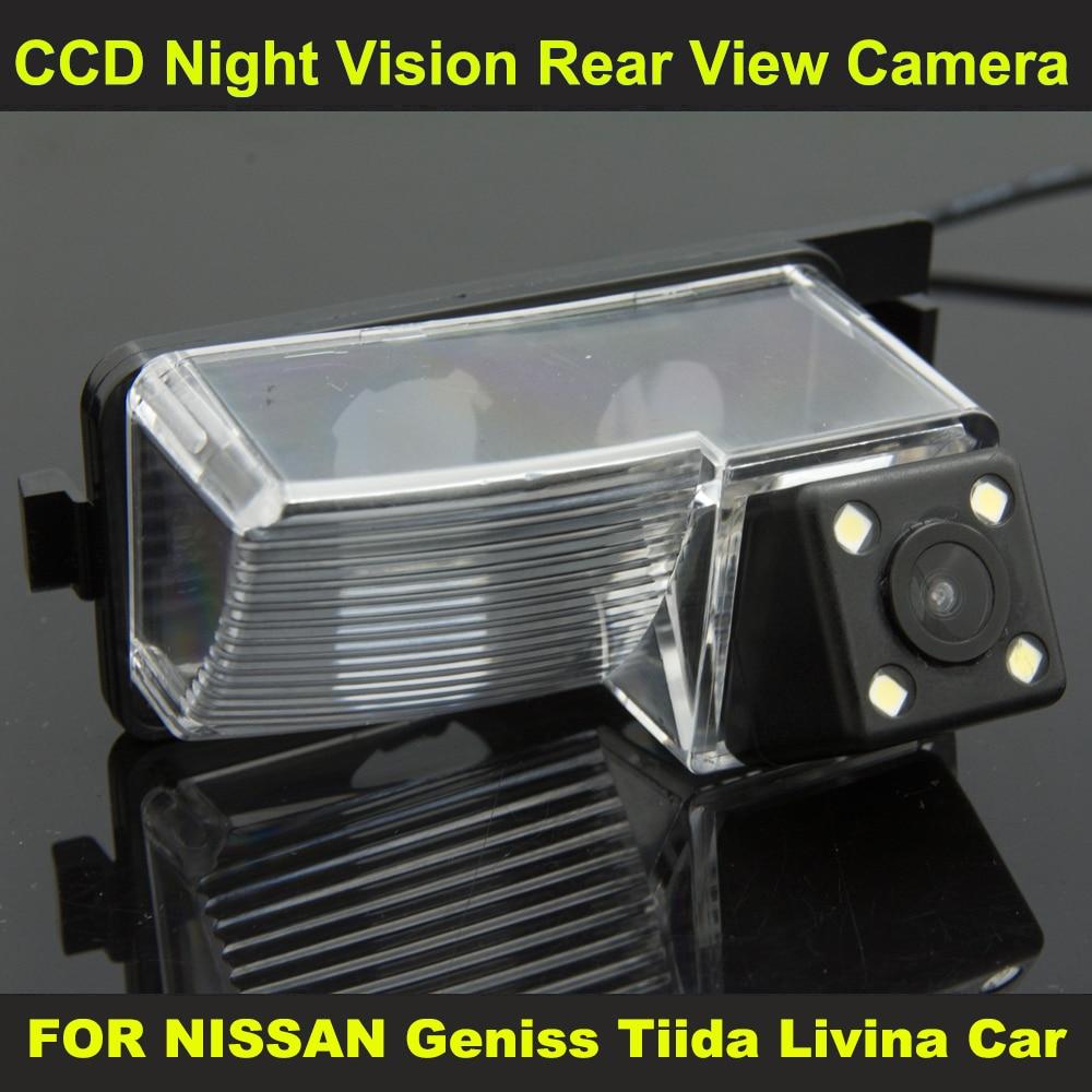 imágenes para CCD Opinión Posterior Del Coche de visión nocturna con 4 lámparas LED Cámara de marcha atrás PARA Nissan 350Z 2006-2008 Tiida 2007-2010 Hoja 2011-2014 Versa
