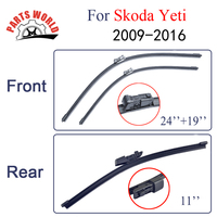 Combo Silicone Rubber Front And Rear Wiper Blades For Skoda Yeti 2009 Onwards Windscreen Wipers Car