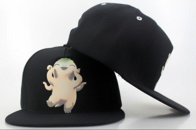 4541878a78f New Black Monster Hunt Snapbacks cap Hats High quality baseball cap fashion  hip-hop Hats Men women Flat Caps Adjustable caps