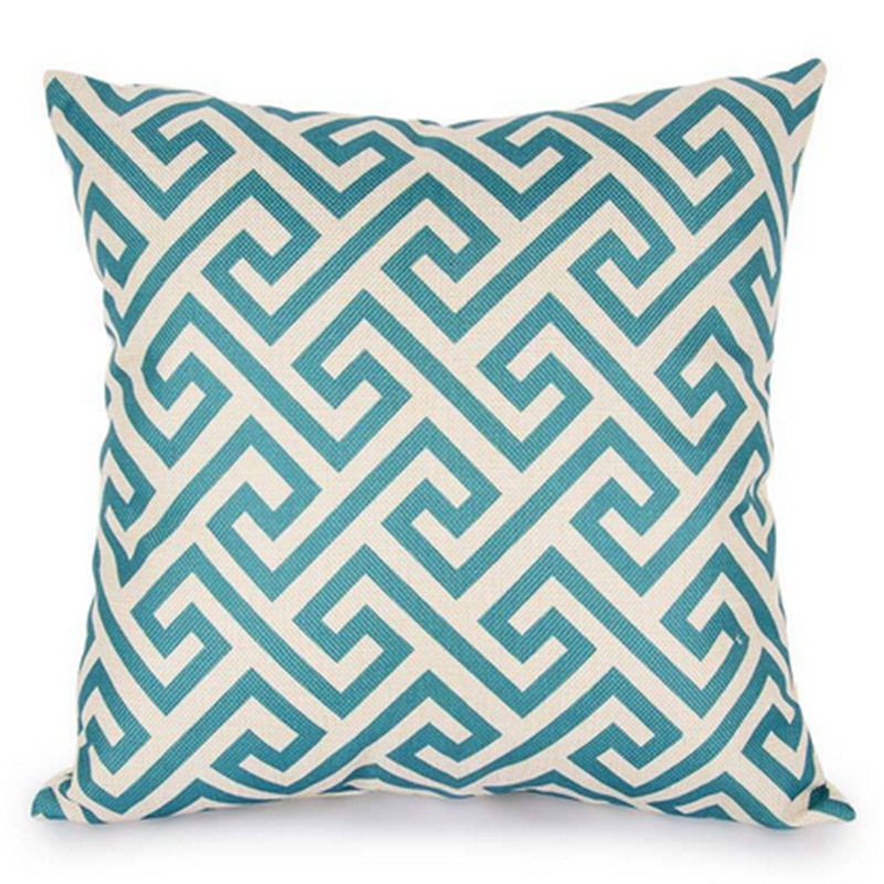Gracious Home Decorative Pillows : 45*45 cm Decorative Throw Pillow Cover blue White Cushion Cover Pillow Case for Sofa home ...