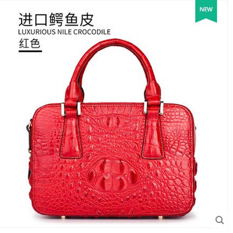 2018 Gete new hot freeshipping alligator handbag woman handbag crocodile bag