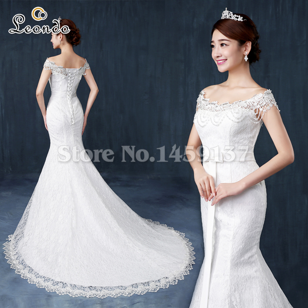 Vestido De Noiva Renda Vintage Lace Princess Wedding Dress: Leondo Lace Bridal Dresses Vintage Vestido De Noiva De