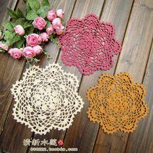 ZAKKA Handmade 20cm Round flower Lace Doilies Crochet Coaster Table Place mats cup mat 10pcs/Lot