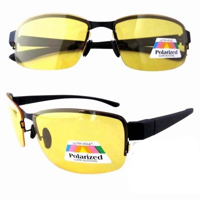 P11003 Patent 1.1 Polarized Yellow Lens Anti Glare Night Vision Driving Glasses