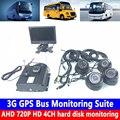 HD 7-дюймовый дисплей + максимальная поддержка 2T жесткий диск рекордер 3G GPS автобус мониторинга комбайн/частный автомобиль/наличные грузовик