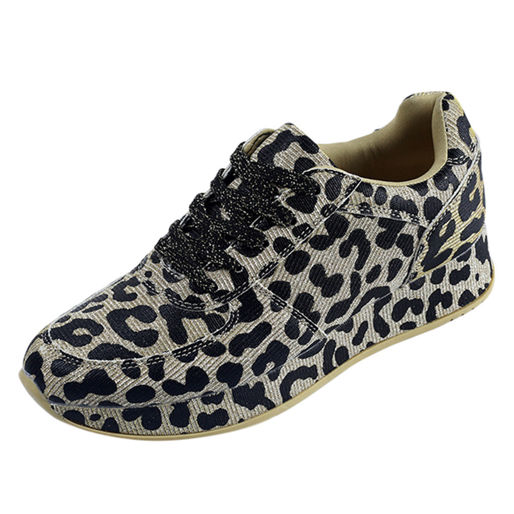 Platform Sneaker Shoes Fashion Woman Non-Slip Summer Leopard Increased title=