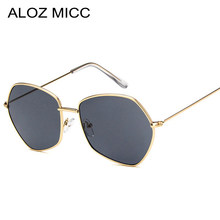 ALOZ MICC 8 Cores 2018 Mulheres Tendência Pequeno Polígono Óculos de Sol Da  Moda Homens Óculos de Armação de Metal Lente Tonalid. 9f1abc6770