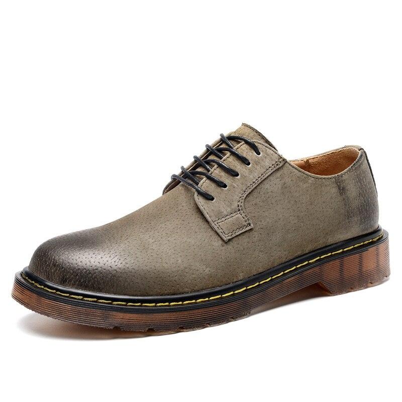 Daim Chaussures Oxfords marron Dark Confort Qualité Appartements Sapato Hommes Cuir Gray Taille Casual Véritable En kaki Grande Mocassins Masculino852 wqIc1TEzn