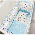 Cuna lecho 6 unids 100% algodón cuna parachoques incluido sábanas del lecho del bebé envío gratis
