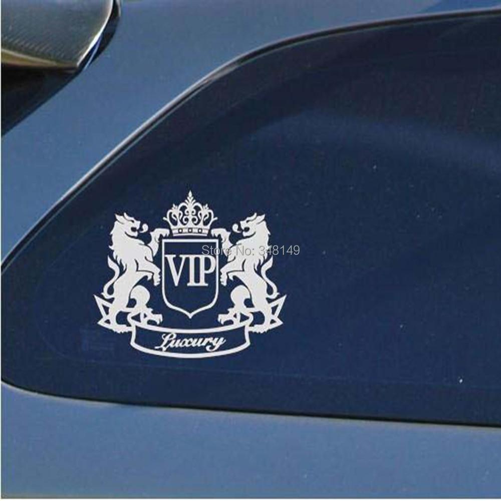 Aliauto Biltillbehör Lyxig VIP Lionreflekterande bilklistermärke och dekal för motorcykel Cruze Ford Focus VW Skoda Octavia kia