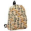 Kople 2016 Cartoon Owl Fox Girl/Boy Student Shoulder Bag Fashion Women Travel Satchel Canvas School Backpack LB1015