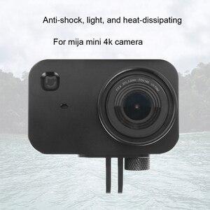 Image 2 - Custodia protettiva JINSERTA in alluminio CNC per Xiaomi Mijia Mini 4K Camera con filtro UV 37mm + protezione copriobiettivo a vite