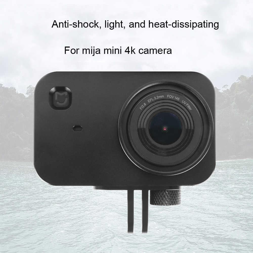 JINSERTA carcasa de marco de aluminio de protección CNC para Xiaomi Cámara Mijia Mini 4K con Filtro de lente UV de 37mm + Protector de tapa de lente de tornillo