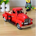 Hot 1:32 Child Toys Vintage Handmade Metal Car Model 2 Colors Travel Edition Pickup Truck Car Model Christmas Gift x160