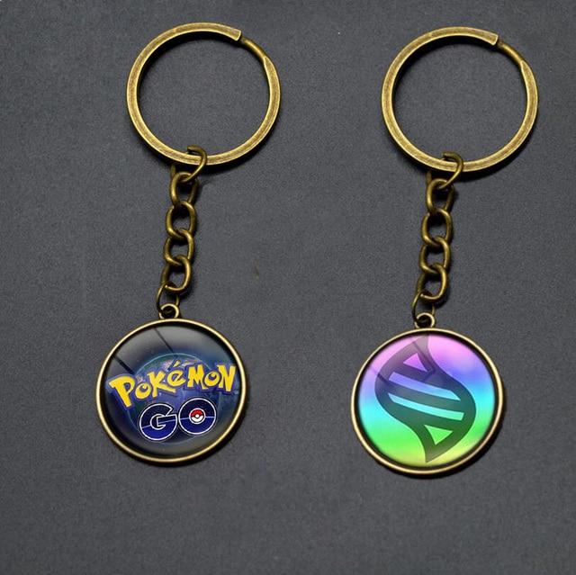 Anime Pokemon Pokeballs Keychain 2016 Poke mon Pikachu Puppets car Key Chain Ring Pendantornament Pokemon Lanyard For Women Men