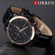 2016 Hombres de Los Relojes de Primeras Marcas de Lujo CURREN Moda hombres Cuarzo Reloj de Pulsera de deporte casual relogio masculino relojes de oro negro