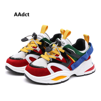 AAdct 2019 running sports kids shoes for girls spring new fashion boys shoes sneakers Mesh student children casual shoes