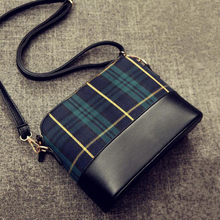 New Retro Women Bag Section Of The Shell Bag Shoulder Diagonal Package Plaid PU Leather Package
