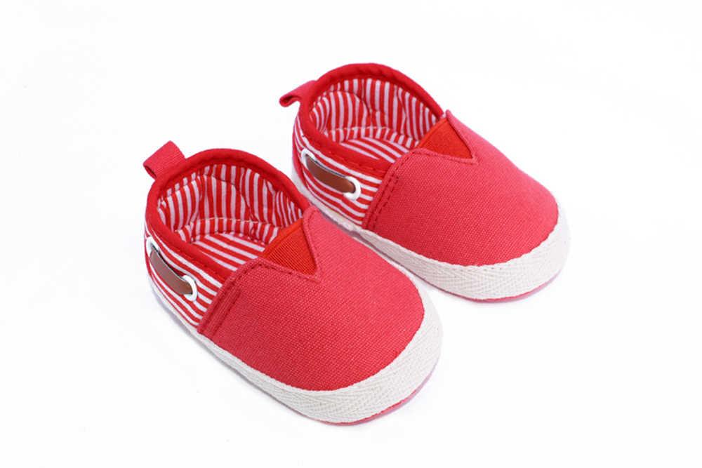 男の赤ちゃん靴新生児幼児の靴 2019 クラシックレジャーコットンまずウォーカー幼児ソフトボトム子供ストライプローファー靴