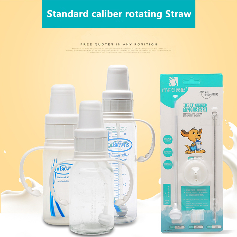 Standard Caliber Bottle Straw For Dr. Brown's Standard  Drink Bottle Cup Replace Silicone Soft Straws Baby BottleAccessories