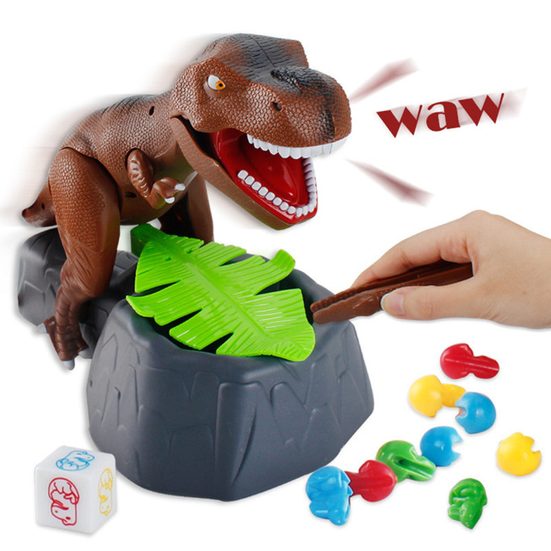 2018 morder mano dinosaurio divertido juego de dinosaurio eléctrico juguete hacer sonido morder dedo dinosaurio truco juguete divertido dinosaurio Juguetes