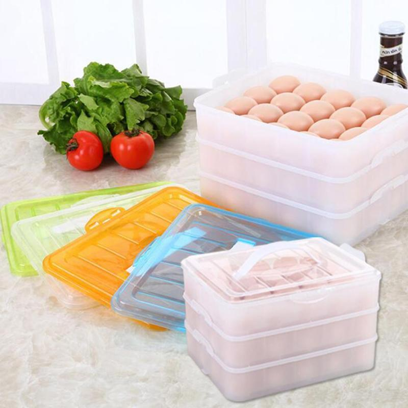 NAI YUE Egg Food Container Storage box 60 grid Shelf 3 layers plastic Storage Boxes food container #10