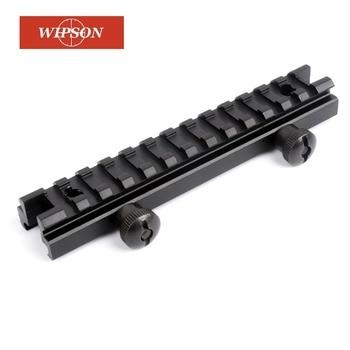 WIPSON Monte Weaver Picatinny de Riser AR High Profile See Thru 20mm com 13 Slots Tecelão Trilhos Picatinny Pistola Airsoft arma Huntin