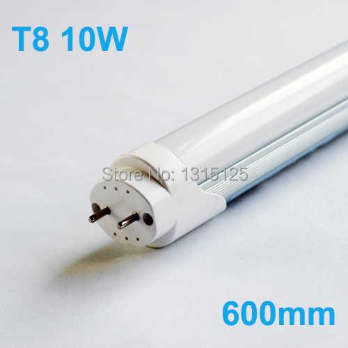 Супер Яркость 2ft T8 светодиодные трубки 600 мм 10 Вт SMD2835 светодиодные фонарики дневной свет Tubetes AC85-265V Теплый Холодный белый 1000lm