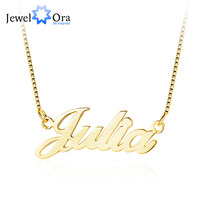 Name Necklace With Box Chain Commemorate Personalized Letter 925 Sterling Silver Pendant Necklace Gift JewelOra NE102047