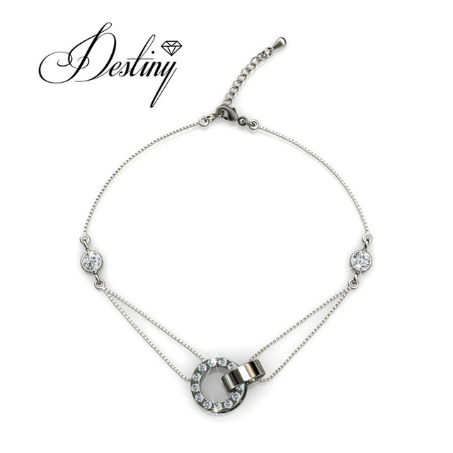 19e07bc38 Destiny Jewellery Embellished with crystals from Swarovski bracelet Caring  Bracelet manchette bracelet DB0051