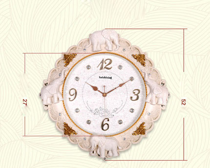 Buy decorative watch wall clock living - Watch the elephant in the living room ...