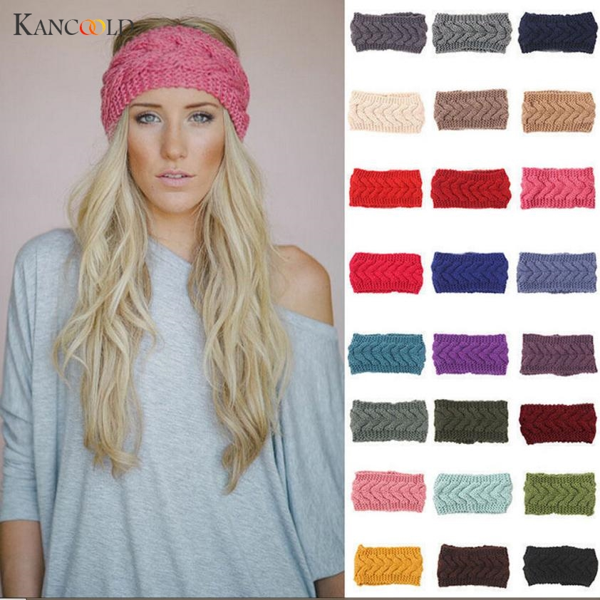 headband   Headwear   hair bands for girls Knitted women Headbands Winter Warm Head Wrap Wide Warmer Hairband Accessories MAR28