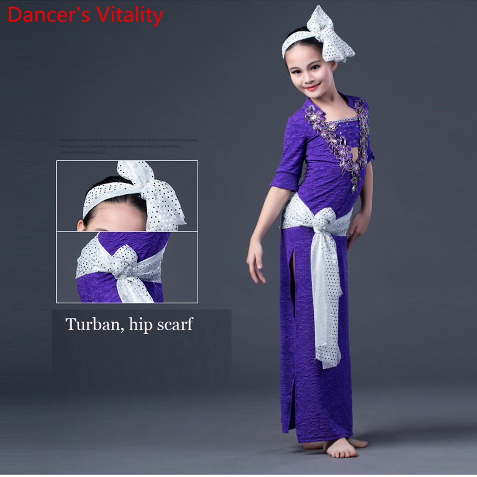 2018 Professional Girls Belly Dance Costume Short Sleeve