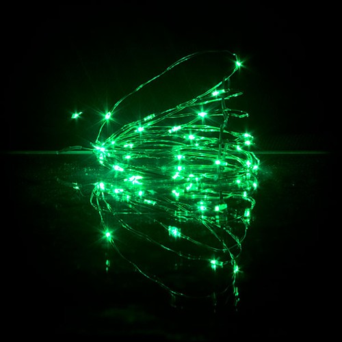 Led String 2017 New Year Rgb Led String Copper Wire 3aa Batteries 33ft 10m 100 Leds String Lights Mini Holiday Lighting Lights & Lighting