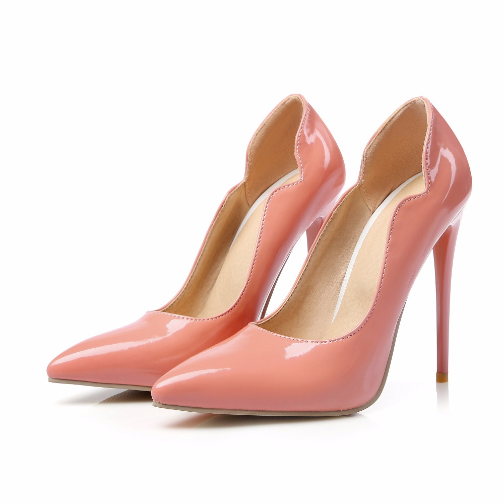 Big Size Sale 34-47 Apricot New Fashion Sexy Pointed Toe Women Pumps Platform super  High Heels Ladies Wedding  Party Shoes 8-9 hot sale brand ladies pumps sexy women high heels platform sexy women high heel pumps wedding shoes free shipping 2888 1