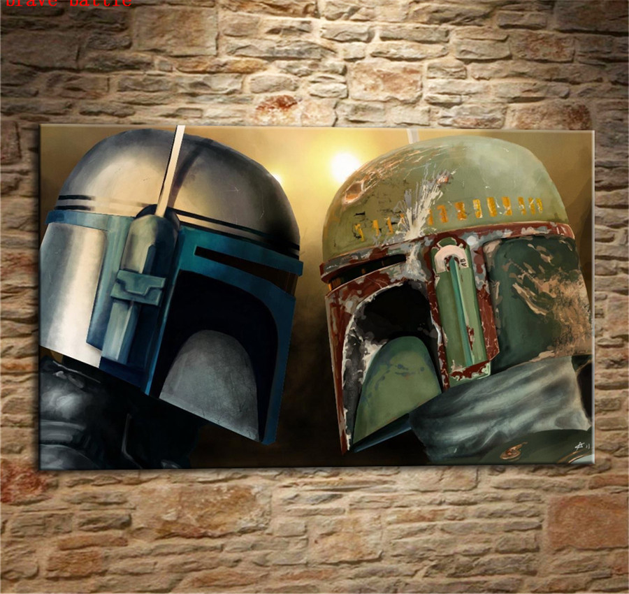HD Print Star Wars The Force Awakens Art Home Decor Oil Painting on Canvas 16x24