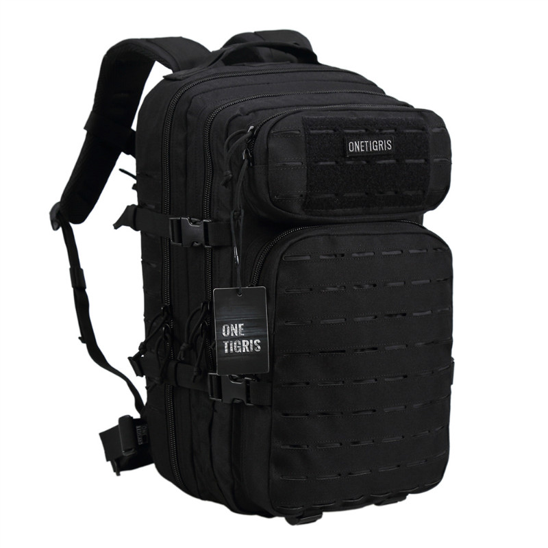 OneTigris Tactical 36L Backpack Laser-Cut MOLLE Assault Pack for Camping Hiking Hunting Travelling Nylon Bag Fits 15.6 Laptop 25l military tactical assault pack backpack molle ripstop nylon backpack outdoor hiking camping hiking backpack