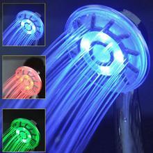 3 цвета, меняющий светодиодный душ, с контролем температуры воды, душ для ванной комнаты, АБС-пластик