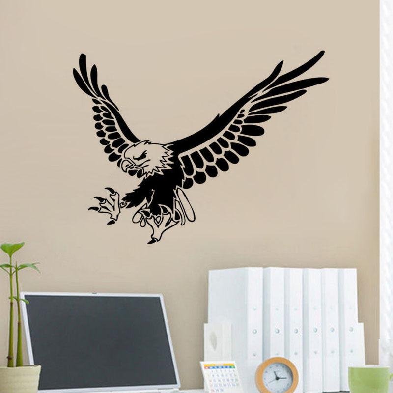Flying Eagle Wall Home Sticker Eagle Animal Wall Decor Bird Wall
