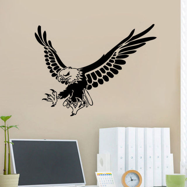 Flying Eagle Wall Home Sticker Eagle Animal Wall Decor Bird Wall Decor Kids  Room