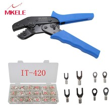 Hot Sales Mini-type SN-0325 Crimping Pliers Jaw For Most Types Insulation Terminal Multi Hand Pliers,IT-420 Terminal(420)/Box