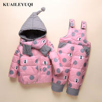 Russia Winter Children Ski Suit Kids down Jacket Coat new Parka Snowsuit Girls baby girl Clothes Boy Clothing Set Outwear enfant