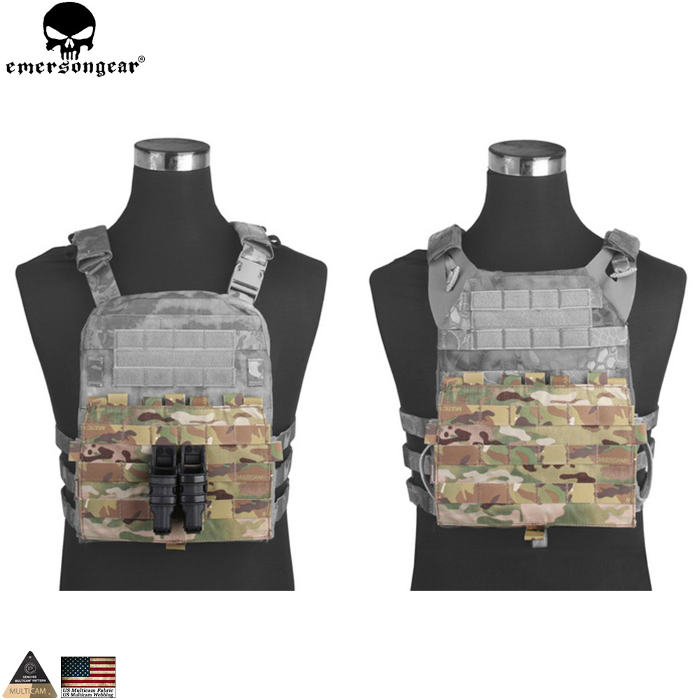 EMERSONGEAR MOLLE Panel For AVS JPC 2.0 VEST Hunting Vests Accessories Multicam Black EM9288
