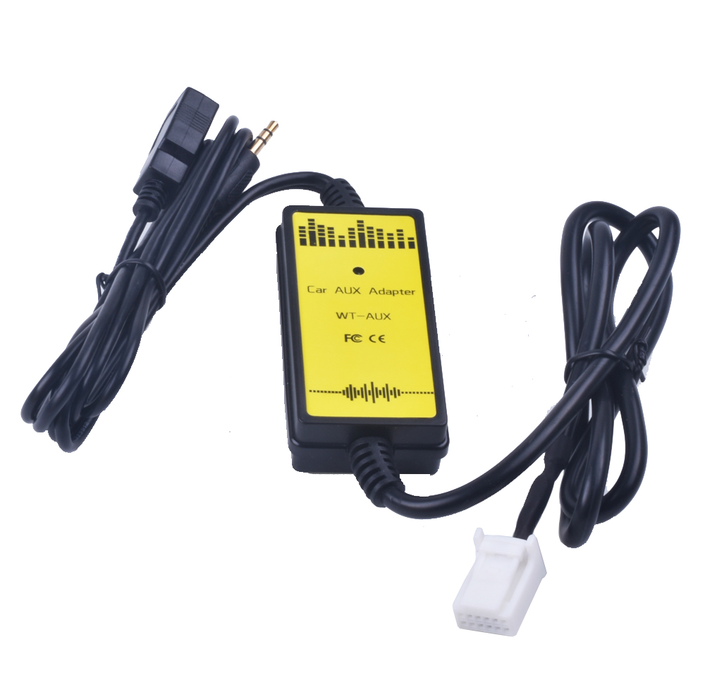 Car CD Adapter MP3 Audio Interface AUX USB Adapter SD 2x6P Connect CD Changer For Toyota Sequoia Sienna Tacoma Yaris For Lexus