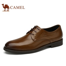 Camel men's office dress shoes  fashion business formal comfortable commercial leather lacing male shoes