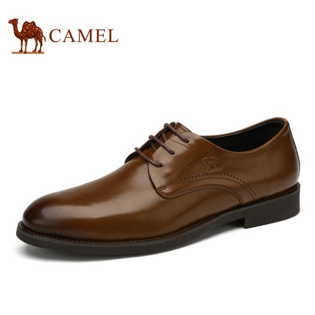Camel men's office dress shoes fashion business formal comfortable  commercial leather lacing male shoes A712102210