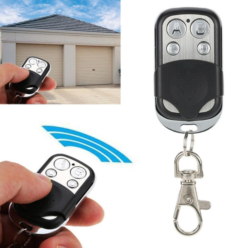 Mini código de cópia 4 canais universal controle remoto clonagem duplicador chave transmissor 433 mhz aprendizagem porta da garagem abridor